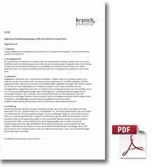 AGB - Allgemeine Geschäftsbedingungen der Firma Kranich Concept GmbH