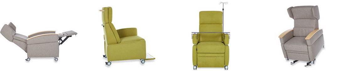 Der Pflegesessel VIANDO+ : Sessel mit Aufstehhilfe und komfortablen Bodenrollen für den Einsatz in Kliniken, Pflegeheimen, Tagespflegen und für das private Zuhause.