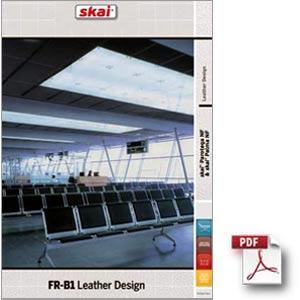 Stoff für den Pflegesessel VIANDO: Stoff-FR-B1-Leather-Design
