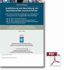 Hohensteiner-Institut, Qualifizierung und Beurteilung von desinfizierenden Waschverfahren zum Erwerb und der Erlaubnis zur Führung der Gütezeichen für sachgemäße Wäschepflege