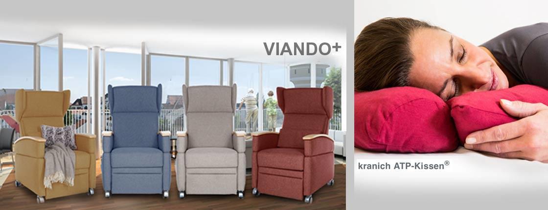 Pflegesessel VIANDO+ / kranich ATP-Kissen - Positionierungskissen, Care-Produkte der KRANICHConcept GmbH