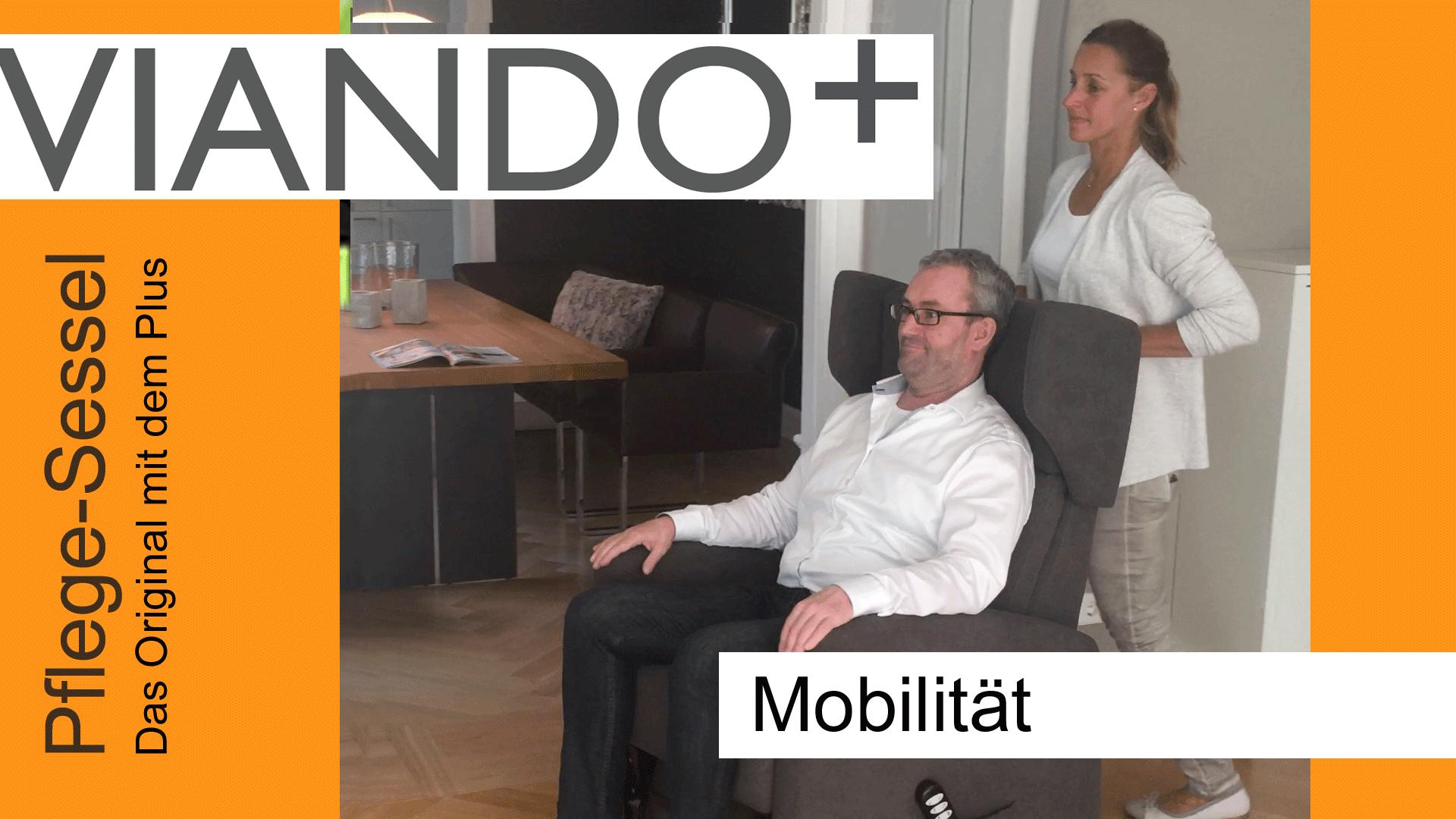 Pflegesessel VIANDO+ mit Rollen für Mobilität