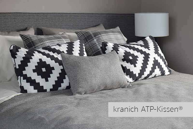 Hotels-Kissen-Objektkissen kranich-ATP-Kissen® für Schlafkomfort, Gaeste / Service im Hotel und Kreuzfahrtschiffe