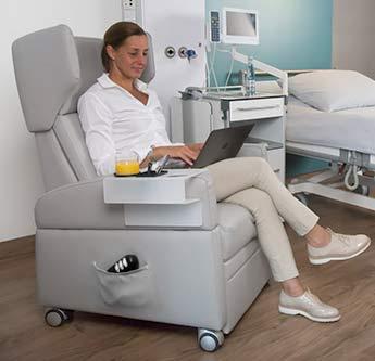 Rehasessel / Krankenhaus-Einrichtung: Gesundheitssessel für Patienten zum sicheren gesunden Sitzen in der Pflege