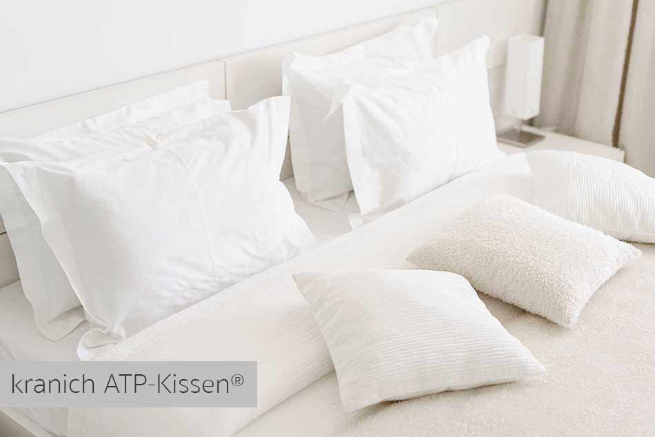 Hotel / Gäste-Service: kranich ATP-Kissen® mit Kunstfaser Füllung. Stützend und klimaneutral
