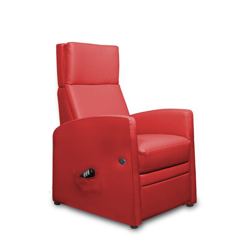 Relaxsessel für die Herz-Waage-Position mit motorischer Aufstehhilfe (Motoren)