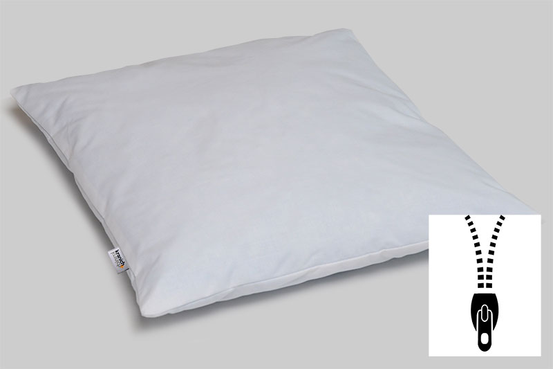kranich ATP-Kissen, Kissen für Objektbereich / weiss / privat-40 cm x 40 cm / mit Reißverschluss