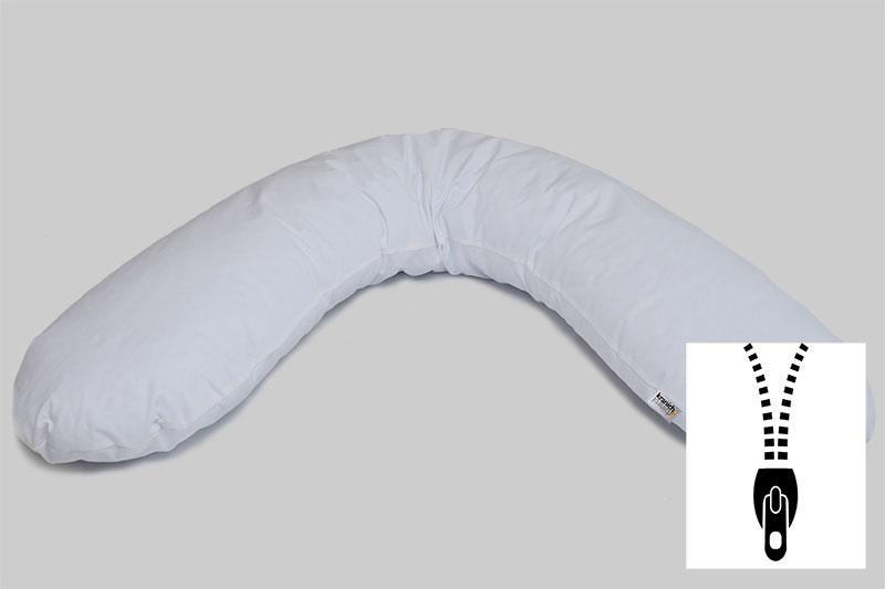 Stillkissen kranich ATP-Kissen, Kissen für Objektbereich / weiss / mit Reißverschluss / Kissen zum Stillen / Babies
