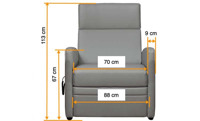 Ruhesessel XXL / XL TV-Sessel für schwerere Menschen / Menschen mit Übergewicht