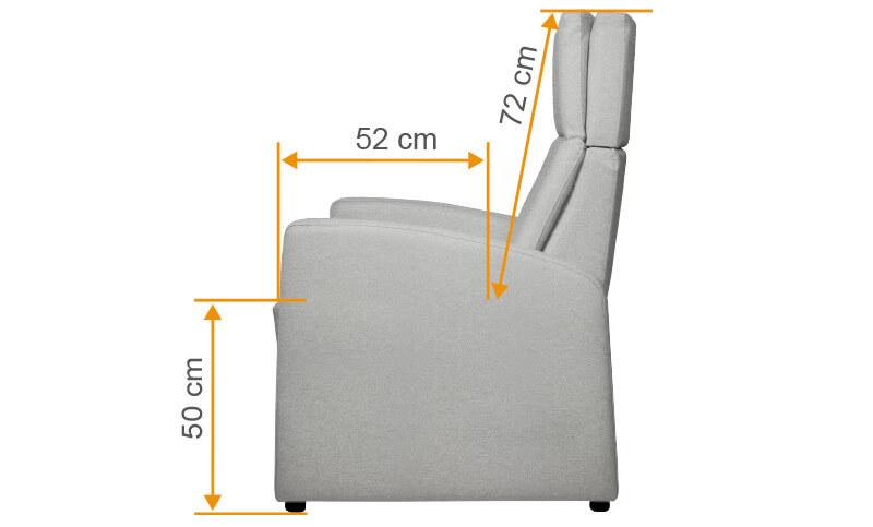 XL-Ruhesessel / XXL Sessel für größere schwerere Menschen, mit Aufstehhilfe