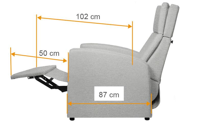 VIANDOpflege XXL-Sessel für schwerere-Menschen. Ruhelage mit Beinauflage / Beilage und Aufstehhilfe