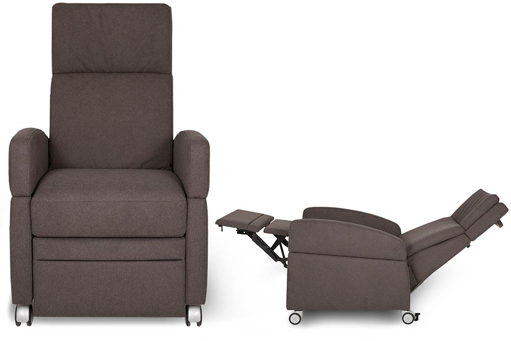 Pflegesessel, Sessel für Behinderte: VIANDOpflege mit mechanischer Verstellung