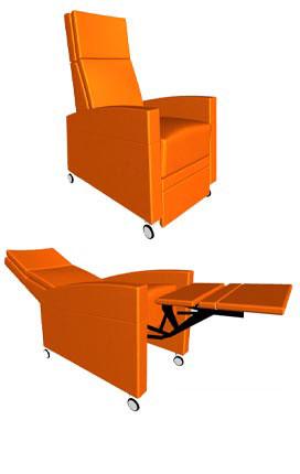 Pflegesessel in 3D Ansicht / Aufstehsessel in 3D Ansicht