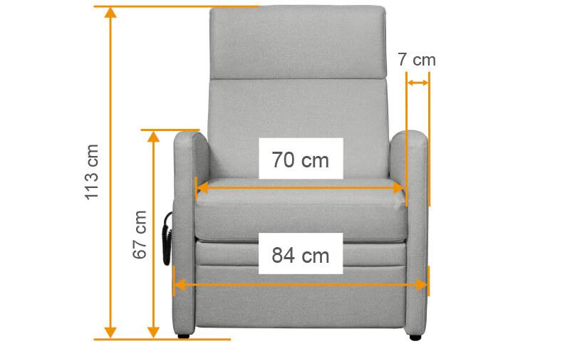 Aufstehsessel VIANDO bis 200 kg, Sitzbreite 70 cm... für schwere Menschen mit Übergewicht