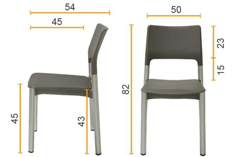 Maße - Stuhl
